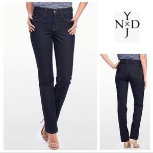 Nydj Marilyn Ankle Skinny Jeans Dark Blue NWOT 4